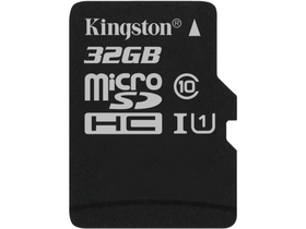 Kingston Secure Digital Micro 32GB SDHC Class10 memóriakártya Single Pack w/o adapterrel