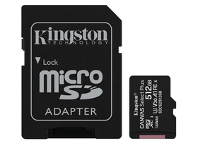 Kingston Canvas Select Plus MicroSDXC 512GB memóriakártya + SD adapter, class 10