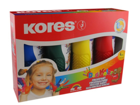 Kores Dedi Kolor Fingermalfarbe , 4 Farben