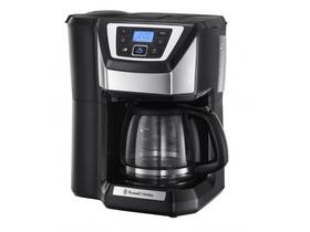 Russell Hobbs 21701 56 Retro kávéfőző, 10 nagy csésze kapacitás, 1,25 literes üvegkancsó feketerozsdamentes acél