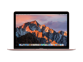 "Apple MacBook 12"" (2017) m3 1.2GHz,8GB,256GB,HD 615, magyar (HUN) bill., rozéarany (mnym2mg/a)"
