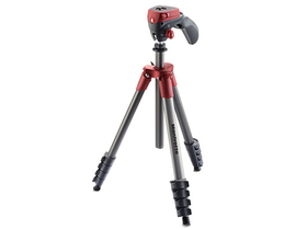 Trepied Manfrotto Compact Action, roșu