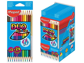 Creion colorat Maped COLOR`PEPS DUO, 12buc./vutie