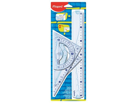 Set liniar din plastic Maped GRAPHIC, 4buc.