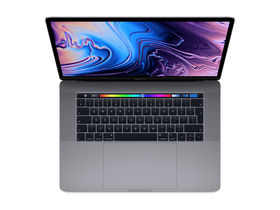 "Apple MacBook Pro 15"" Retina Touch Bar QC i7 2.6GHz/16GB/512GB/Rad.Pro 560X w 4GB, asztroszürke HUN (mr942mg/a)"