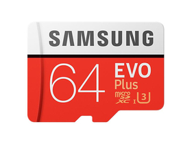 Samsung EVO Plus 64GB microSDXC UHS-I U3 100MB/s Full HD & 4K UHD Memóriakártya adapterrel (MB-MC64GA)