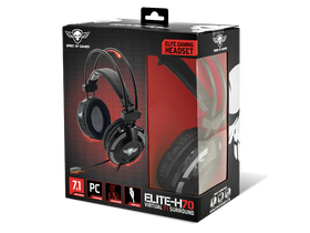 Spirit of Gamer headset ELITE-H70 Black 7.1,