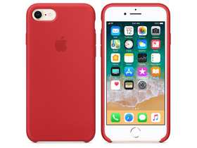 Apple iPhone 8 / 7 silikónové puzdro, (PRODUCT)RED (mqgp2zm/a)