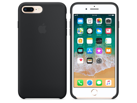 Apple iPhone 8 Plus / 7 Plus silikonski ovitek, črn (mqgw2zm/a)