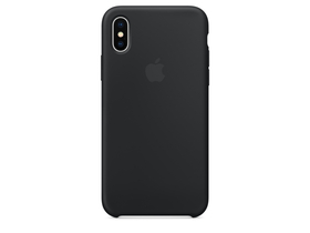 Apple iPhone X sziikonski ovitek, črn (mqt12zm/a)
