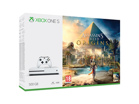 Xbox One S 500GB igralna konzola, bela + Assassins Creed Origins