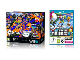 Nintendo Wii U Premium Pack, fekete , Splatoon,New Super Mario Bros. U,New Super Luigi U