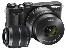 Nikon 1 J5 set za digitalni fotoaparat  (10-30mm PD-Zoom + 30-110mm objektiv), črni