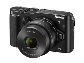 Nikon 1 V3 set za digitalni fotoaparat (10-30mm PD Zoom objektiv), črni