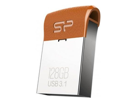 Silicon Power Jewel J35 128GB USB 3.0 pendrive, barna (SP128GBUF3J35V1E)