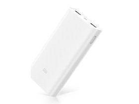 Xiaomi Mi Power Bank 2C 20000 mAh, 2xUSB, QuickCharge 3.0, alb