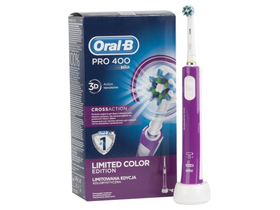 Oral-B Pro 400 D16.513 Elektromos fogkefe CrossAction fejjel, lila