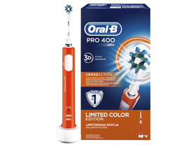 Oral-B Pro 400 D16.513 Elektromos fogkefe CrossAction fejjel, narancssárga