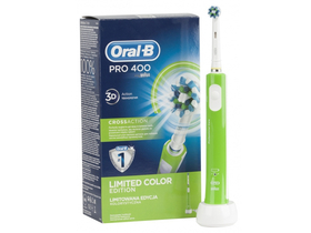 Oral-B Pro 400 D16.513 Elektromos fogkefe CrossAction fejjel, zöld