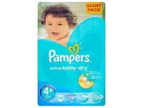 Pampers Active Baby-Dry plienky 4+ Maxi+ 70 ks