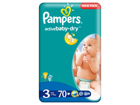 Pampers Active Baby pelenka 3 midi 70 db