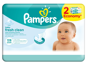 Pampers baby vlažna maramica baby fresh 2 x 64 komad