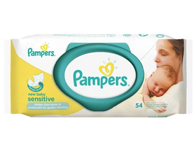 Pampers Sensitive NewBorn Babatörlőkendő 54 db