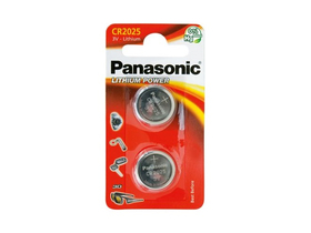 Panasonic CR2025L/2BP lítium gombelem (2db)
