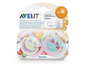 Suzete clasice Philips Avent  SCF172/22, 6-18h., 2 buc. design colorat