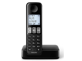Telefon DECT wireless Philips D2301B/53, negru