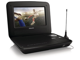 DVD player portabil Philips PD7015 MPEG4 cu tuner TV