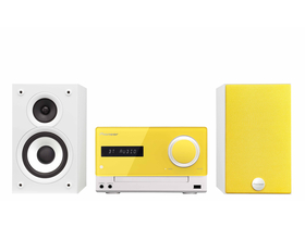 Pioneer X-CM32BT-Y Micro HiFi sistem iPod/iPhone/iPad/Bluetooth/USB, v rumeni barvi