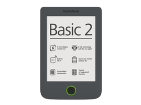 PocketBook Basic 2 614 eBook čítačka, sivá