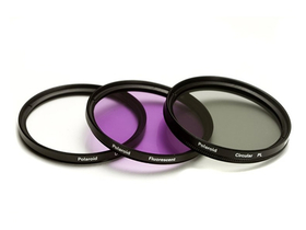 Polaroid filtr set (UV, CPL, FLD) + 4 ks 46mm filtru