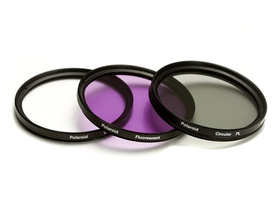 Polaroid filter set (UV, CPL, FLD) + 4 ks filter 52 mm
