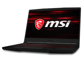 MSI GF63 8RC 9S7-16R112-420HU gamer notebook, fekete
