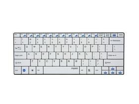 Rapoo E9050 Wireless ultra tenky Multimedia Keyboard ,bilé