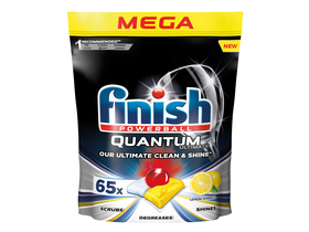 Finish Quantum Ultimate Lemon tablety do umývačky riadu, 65 ks