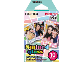 Fujifilm Colorfilm Instax Mini Glossy Film, Stained Glass, 10 Stk.