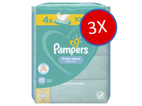 Pampers Fresh Clean vlažne maramice, 12x80 kom.