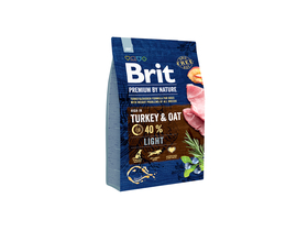 Brit Premium by Nature Light száraz kutyaeledel, 3 kg