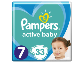 Pampers Active Baby Value Pack pelene, veličina 7 , 33 kom.