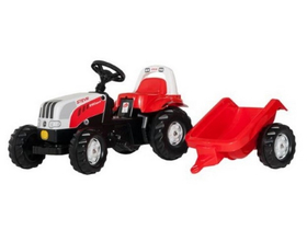 Tractor cu pedale Rolly Kid Steyr 6160 CVT cu remorcă