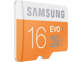 Samsung Secure Digital Micro 16GB SDHC EVO Class10, UHS-I Grade1 + SD adapter