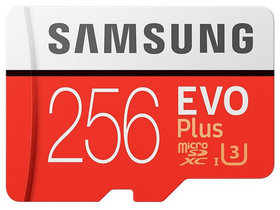 Samsung EVO Plus 256GB microSDXC UHS-I U3 100MB/s Full HD & 4K UHD Memóriakártya adapterrel (MB-MC256GA)