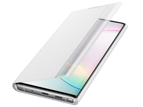 Husa Samsung Galaxy Note 10+ clear view cover, alb