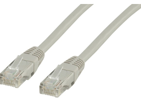 Wiretek Patch UTP CAT5E patch kábel, szürke (3m)