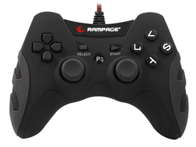 Gamepad Rampage SG-R218 compatibil PC si PS3, negru