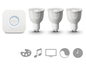 Kit de iniţiere GU10 Philips hue  6,5W (3buc.) + bridge