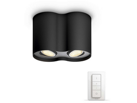 Philips hue Pillar 2x5,5W GU10 LED Ambiance spotlámpa + DIMSwitch 5633230P7